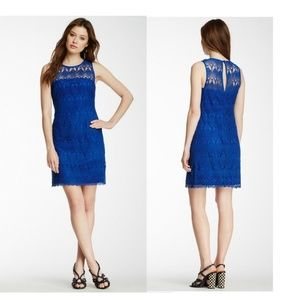 Trina Turk Blue Lace Sleeveless Mini Dress 4